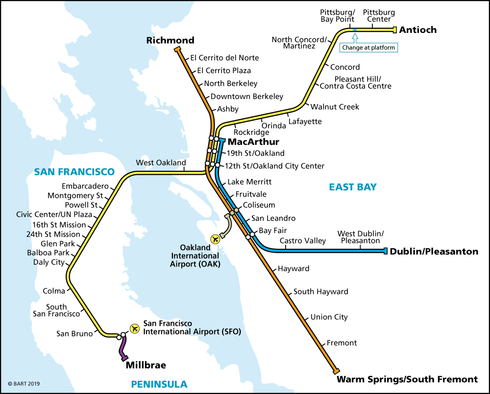 carte BART transport san francisco