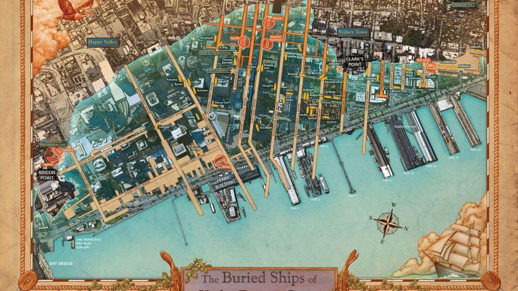 carte des bateaux enterrés sous san francisco
