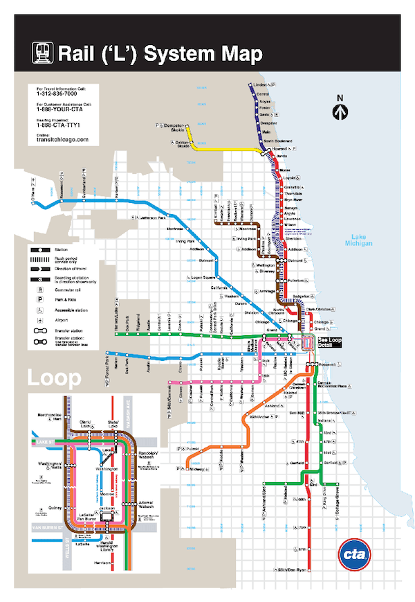 carte metro chicago L